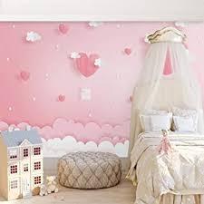 tapete wandbild foto rosa wolken prinzessin kinderzimmer