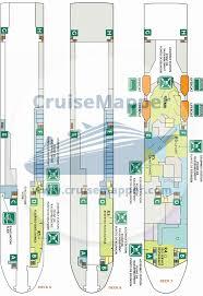 Norwegian Pearl Deck Plan 5 by Barfleur Ferry Deck Plan Cruisemapper