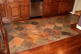 how did you transition between the wood and tile