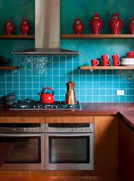Teal Red Kitchen Decor