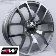 100 24 Inch Truck Rims X10 Inch RW 5656 Wheels For GMC Machined Silver 6x139