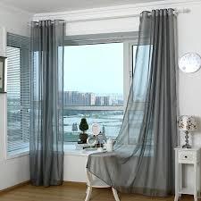 2018 moderne vorhänge für wohnzimmer tüll fenster vorhänge für schlafzimmer grau garn fenster vorhang sheer jalousien in superhousehold