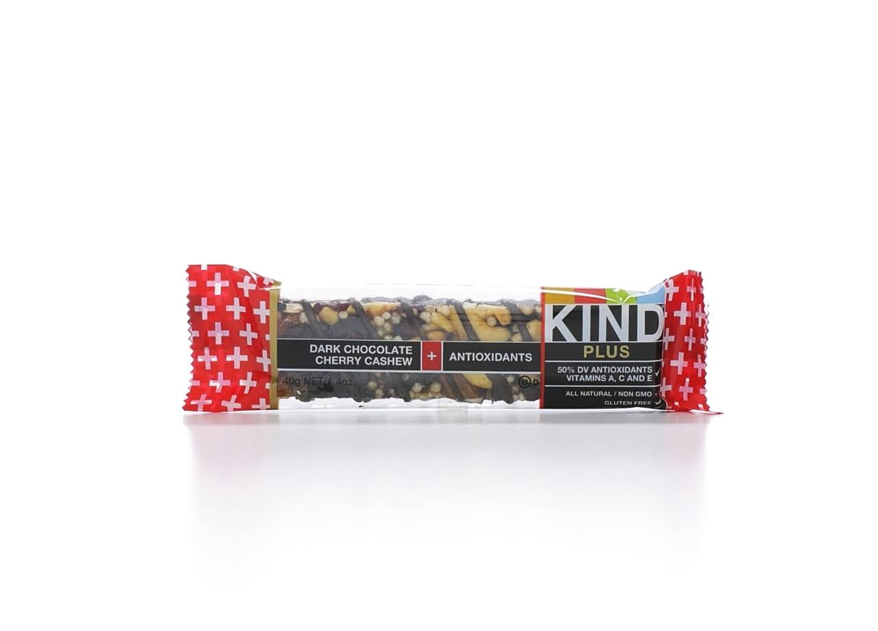 Kind Plus Bars - Dark Chocolate, Cherry Cashew, 12 Bars