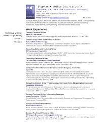 Gallery Of Technical Writer Resume Sample Free