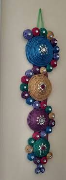 Colorful Recycled Paper Decorative Wall By SMCraftsySisters