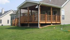 Free Standing Deck Bracing by Decks With Roofs Covered Deck Free Standing Deck Designs Plans