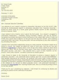 Graduate School Letter Intent
