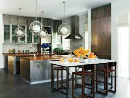 View In Gallery Industrial Chic Kitchen Decorated For Fall