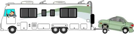 Motorhome Towing A Car On Dolly This Illustration Depicts Class
