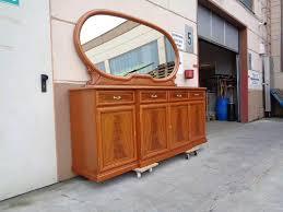 wohnzimmer kommode kirsch mit großen spiegelaufsatz