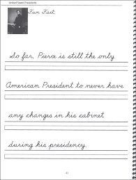 44 United States Presidents Character Writing Worksheets DNealian Beginning Cursive