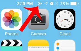 What is the Lock Icon at the Top of My iPhone Screen Solve Your