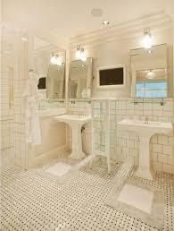 omaha Pottery Barn Mirrors bathroom traditional with bath mat