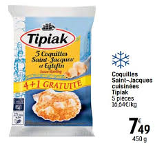 cuisiner les coquilles st jacques surgel馥s carrefour promotion coquilles jacques cuisinées tipiak