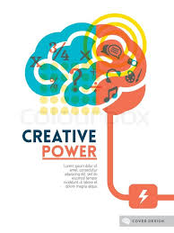 Creative Brain Idea Concept Background Design Layout For Poster
