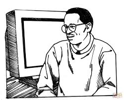 Malcolm X Day Coloring Page