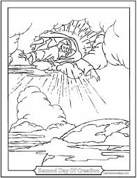 Second Day Of Creation Coloring Page Awesome Picture God The Father Over Earth