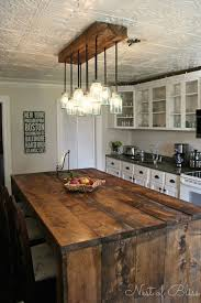 Best 25 Rustic Kitchen Lighting Ideas On Pinterest Mason Jar In Island Decor 0