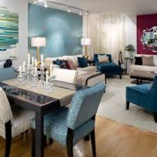 Contemporary Open Plan Dining Room With Accent Walls