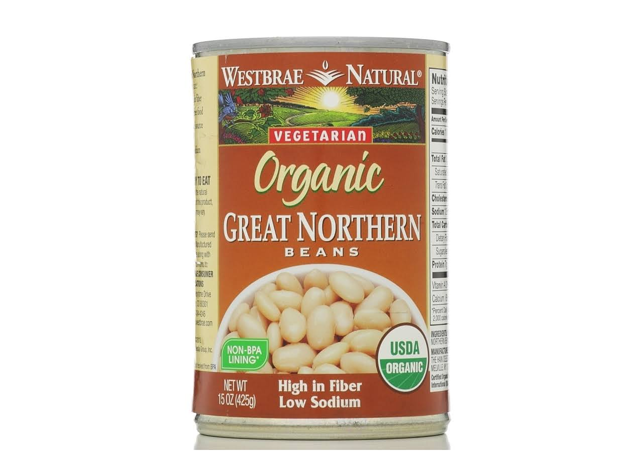 Westbrae Natural Great Northern Beans, Low Sodium, Organic - 15 oz