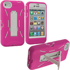 Color Hybrid Heavy Duty Hard Soft Skin Case Cover with Stand for