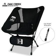 Oak Creek Ultra-Lightweight Folding Camping Chair With 14 X 4 X 4 Inch  Carry Bag | Heavy Duty Collapsible Aluminum Frame | Portable And Durable |  ...