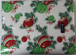 Unomatch Christmas Tree Decor Dining Table Mats Tables