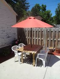 circular picnic table since i can u0027t do a round table inside this