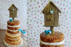 Timber Effect Birdhouse Cake Tutorial From DoCrafts Com Jill Pryor