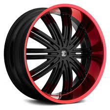 100 Black And Red Truck Rims 20in Rims Red And Black FIERO No7 Wheels Gloss With