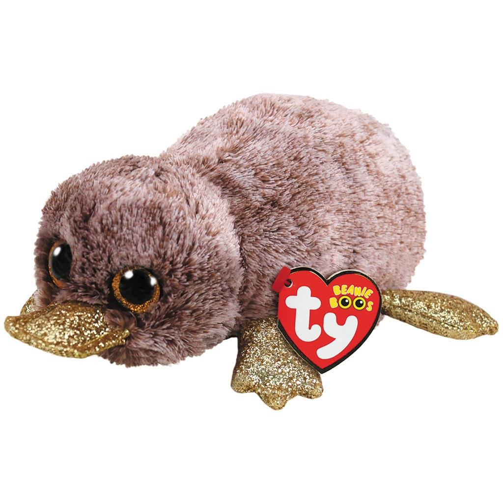 Ty Beanie Platypus Plush Toy - Boo Brown, Small