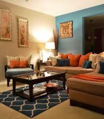 orange blue brown living room google search home living room