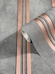 tapete vlies gestreift metallic glitzer grau rosa city glam