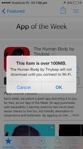 Apple doubles limit on cellular data to 100MB