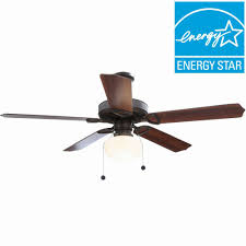 hton bay tri mount 52 in indoor rubbed bronze ceiling fan