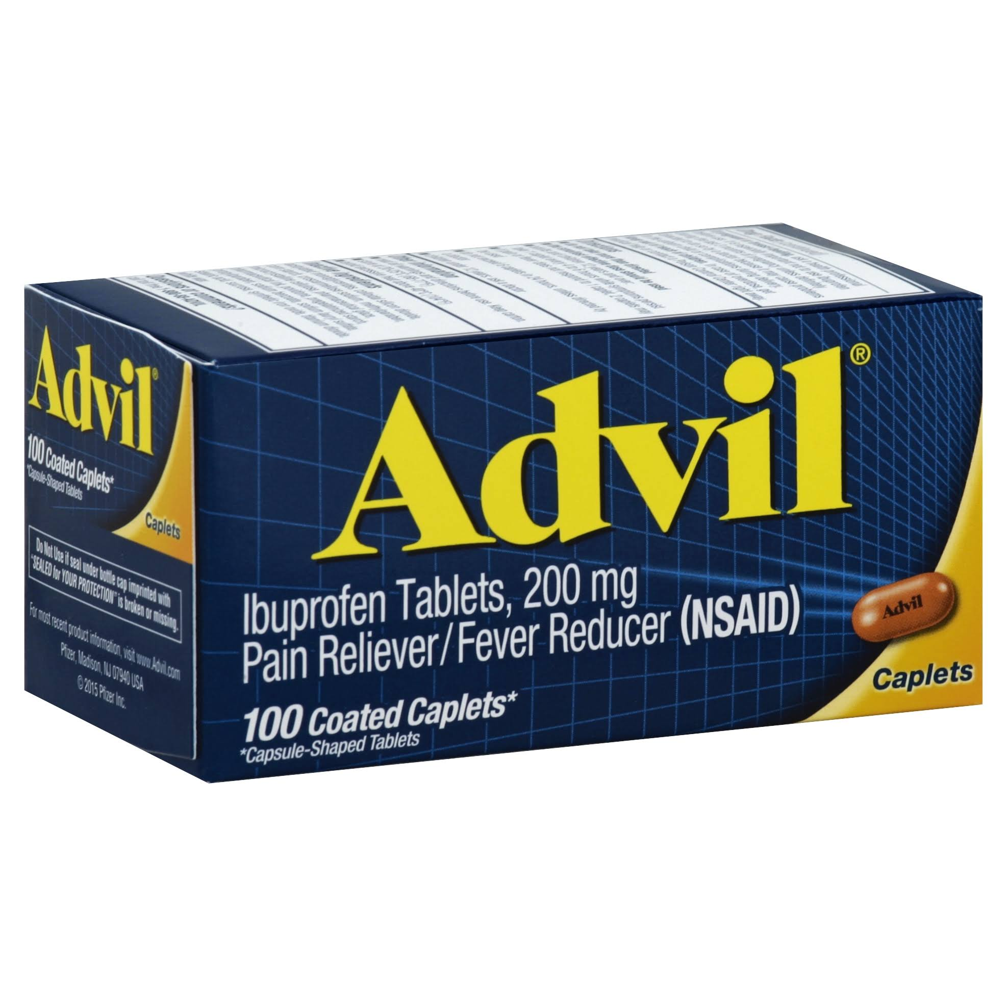 Advil Pain Reliever Fever Reducer - 200mg, 100ct