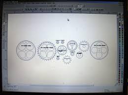 diy wooden gear clock plans free pdf download hanging wall desk