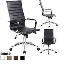 2xhome ribbed pu leather executive office chair