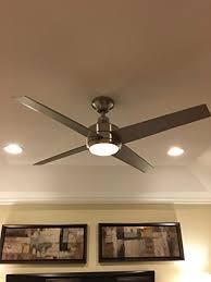 Ceiling Fan Light Flickers by Home Decorators Mercer 52 In Brushed Nickel Ceiling Fan