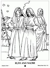 Free Images Coloring Ruth And Boaz Pages In