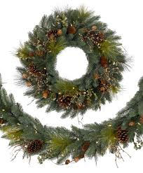 Measuring 6 Feet In Length This Artificial Christmas Garland Has 45 Battery Operated Clear LED Lights And Is Composed Of 147 Branch Tips