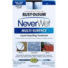 Rust Oleum Decorative Concrete Coating Applicator by Rust Oleum 9 Oz Neverwet Multi Surface Clear Kit 274232