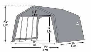 garage in a box peak style portable storage shelter 12 foot x 16