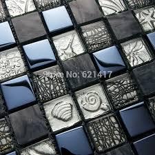 platz schwarz grau farbe edelstahl glasmosaik fliesen küche backsplash badezimmer dusche fliesen schwimmbad mosaik