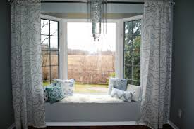 Extraordinary Bay Window Dining Room In Decorating Ideas Curtains Fresh Decorations