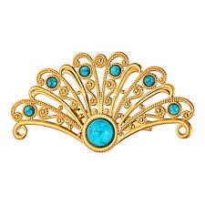 cadeau bureau homme homme femme broche turquoise personnalisé mode plaqué or alliage