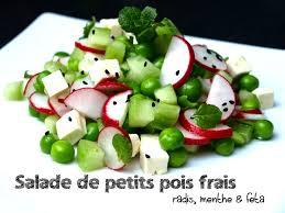 cuisiner des petit pois frais salade de petits pois frais aux radis feta menthe cookismo