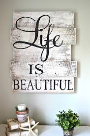 Reclaimed Wood Life Is Beautiful Living Room Decor