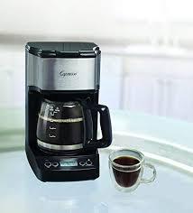 Capresso 42605 5 Cup Drip Mini Coffeemaker Black Silver