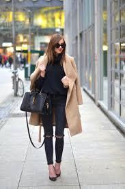American Apparel Turtle Neck Topshop Jeans Mango Coat Jimmy Choo Heels Saint Laurent Bag